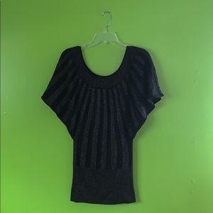 Arden B Glittery Batwing Sweater 🦇